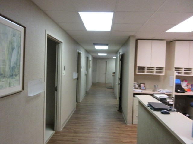 Hall to Nurses Station & Treatment Rooms