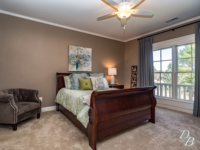 Large guest bedroom.